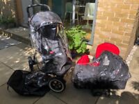 Phil & Ted's Dot Buggy For sale (plus carry cot, double kit, car seat adapter)