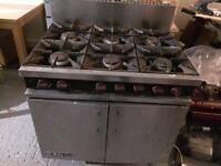 6 burners commercial cooker
