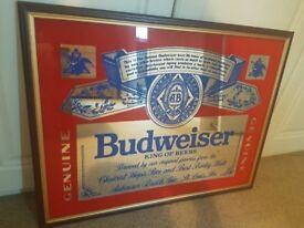Geniune Budweiser Mirror