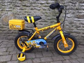Child's Apollo 'Digby' bicycle with stabilisers.