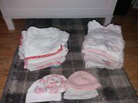 baby girl sleepsuit and vest bundle