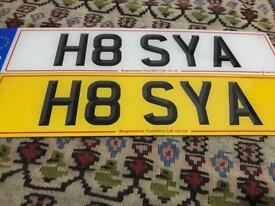 Private number plate - H8 SYA