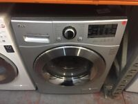 LG 8/6 KG TOUCH CONTROL SILVER WASHER DRYER