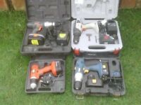 CORDLESS DRILLS WITH CHARGERS £10 EACH