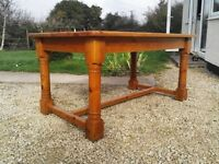 Solid pine country kitchen table