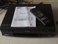 Panasonic SV-120 S-VHS Super-VHS Video Recorder, Original Remote and Instructions
