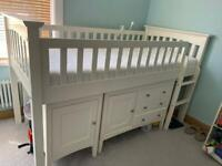 M & S Mid Sleeper Cabin Bed With Set Furnitures