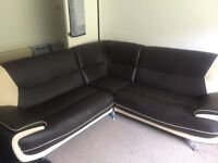 Corner sofa 2 seater and chair and box