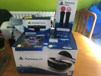 Playstation VR Bundle - Includes PS Camera V2 + 2 PS Motion Controlers + Demo disc + PS VR Worlds