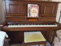 Piano .. Waddington upright. Ivory keys.