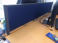 Blue Desk Dividers / Desk Screens (7 available) 150 cm x 29 cm