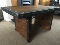 Hand made rustic/industrial coffee table