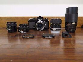 Nikon Nikkormat Camera Outfit Plus Lenses