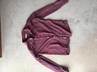 Men's small river island tartan pattern shirt