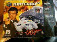 Nintendo N64 console goldeneye pack complete