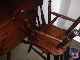High quality drop leaf table and chairs for sale , hand made table and chairs