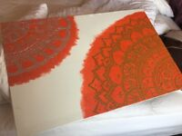 Moroccan themed painting on canvas