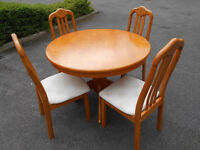 Dining table with 4 chairs. Can deliver