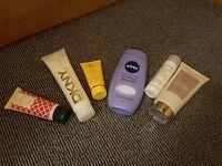 Unused body creams