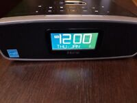 iHOME iP90 DUAL ALARM CLOCK RADIO AM/FM PRESETS &DOCK FOR iPOD AND iPHONE