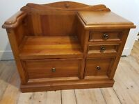 Wooden Seat and storage unit