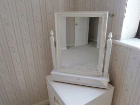 Freestanding White Mirror vgc £15