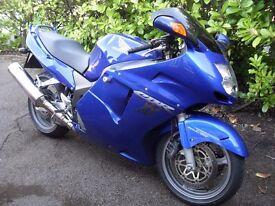 Honda CBR1100XX, CBR 1100XX, Super Blackbird, Blue, 12 Months MOT, 2002, 28200 Miles