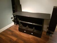 DJ Deck Stand DJ Furniture Desk Table with record storage