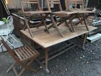 Garden wooden furniture set