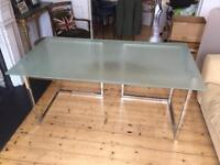 Large Glass Top Desk
