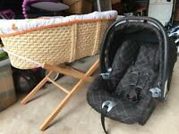 Free baby seat and Moses basket
