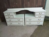 2 x Matching Bedside Draw Set Delivery Available