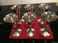 6 x Vintage Silver Plated Goblets