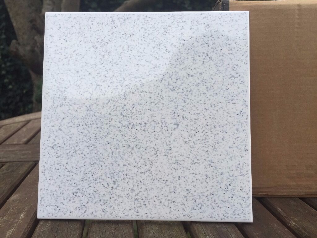 TILES £5 per sqm 44 tiles per box MADE IN UK white speckled floor ...