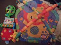 Baby play mat gym arch with toys, musical book etc toy bundle