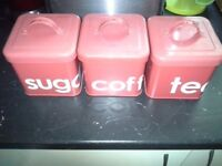 FOR SALE VGC TEA AND COFFEE TINS MUST BE GONE ASAP PICK UP ONLY