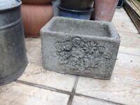 Concrete/stone plant pot