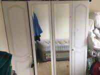 4 DOOR MIRRORED WARDROBE - BARGAIN £50