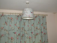 Beautiful Birds Duck-Egg Thermal Eyelet Curtains, Blind,Shade,Duvet Cover