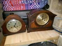 2 1930s mantle clocks