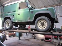 Galvanized chassis Land Rover