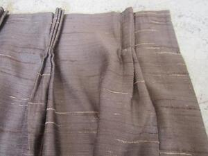 Brown Fully Lined Curtains Set