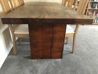 Solid Oak dining table approx 7ft x 3ft weighs about 250kg+