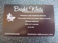 BRIGHT WHITE CLEANING AND IRONING SERVICES