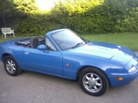 AUTOMATIC WITH OVERDRIVE MAZDA MX5 1-6 EUNOS (IMPORT) DECLARED MANUFACTURED 1991. 12 MONTHS MOT.