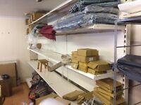 Shelving units - shop, warehouse, storage, 6.8m run total