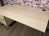High quality desks with built in drawers, 160cm L and 176cm L, great condition, no scratches