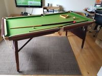 Terry Griffiths 6ft x 3ft Snooker Table - Pool Balls Inc