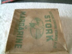 Stork Margarine Trade Box, believe to date back to World War2 or before, very good condition