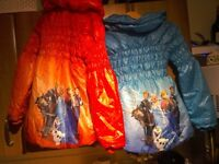 Bnwt,FROZEN girls jacket size 7_8,,,choice of two colours red or blue
